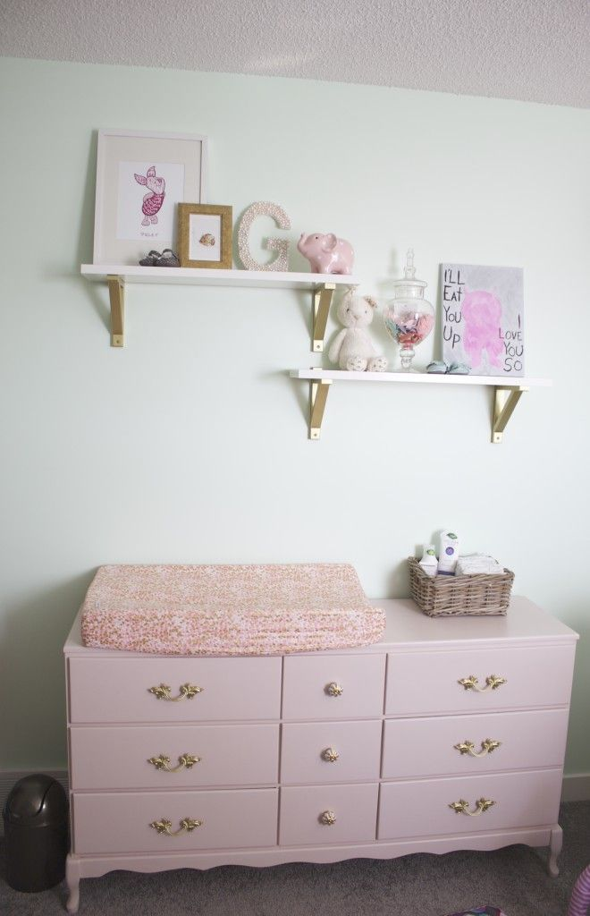 Project Nursery - Family Heirloom Refinished in Pink