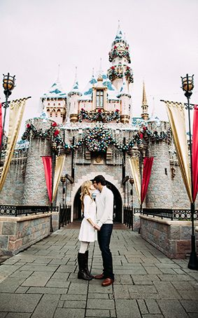 How do you celebrate a joyous wedding anniversary? With a portrait session at Disneyland of course!