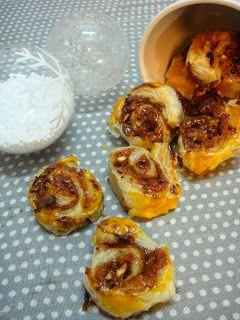 Senhora Dona Anica: Caracóis de marmelo com creme de caramelo e avelãs