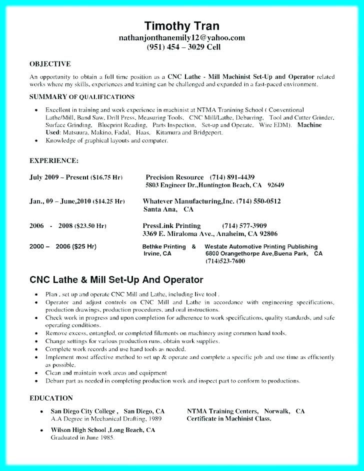 Resume For Cnc Machinist Resume For Machinist Resume Example For Cnc Machinist Resume For Cnc Machinist 2019 Resume Examples Job Resume Samples Cnc Machinist