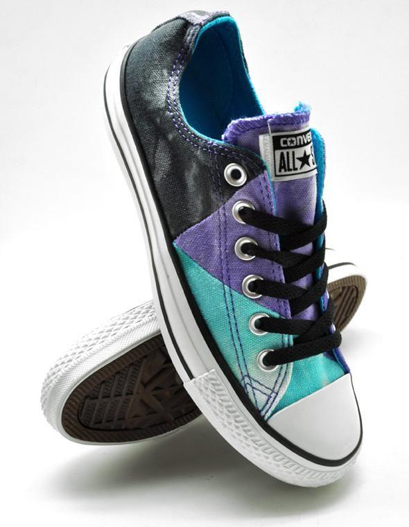converse purple tous baskets sans lacets étoiles Akileos