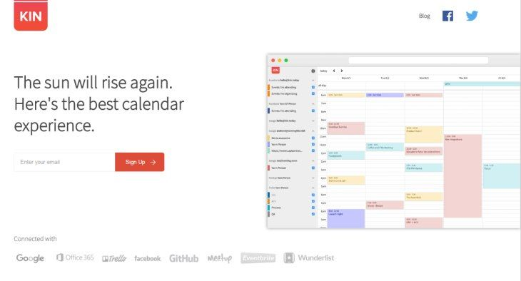#Productividad #beta #calendario Probamos Kin Calendar, el nuevo servicio de calendario alternativo a Sunrise Calendar