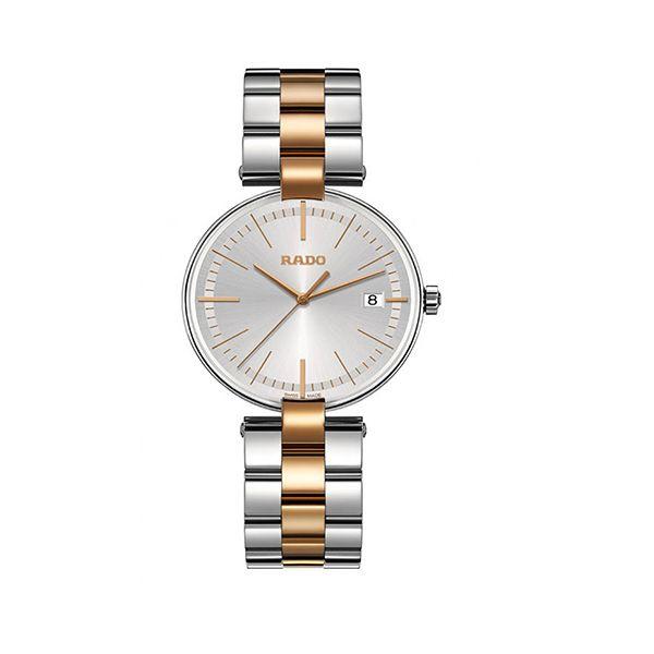Rado Silver & Rose Gold Watch for Women RDW00022