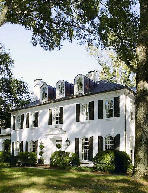Best 25 white shutters ideas on pinterest outdoor for Classic home exteriors