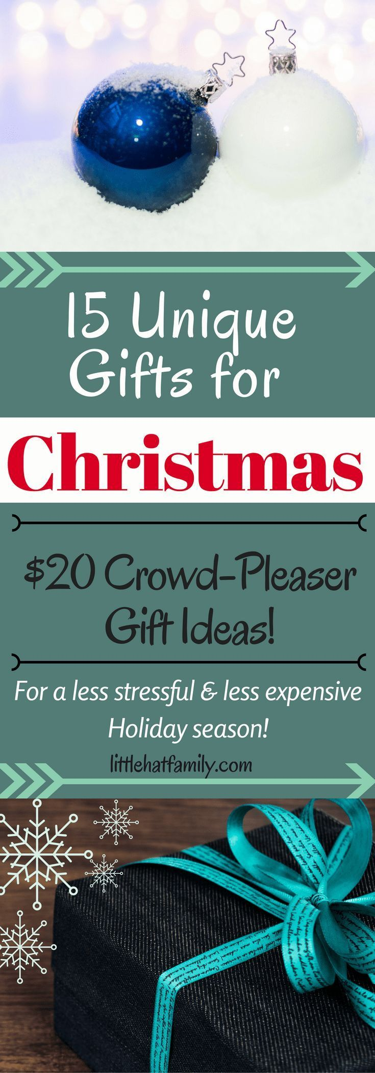 unique Christmas gifts, Christmas list, Holiday gift guide, $20 gifts, affordable Christmas