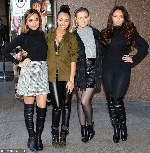 Jade Thirlwall, Leigh-Anne Pinnock, Perride Edwards and Jesy Nelson