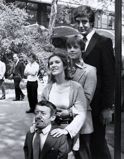 Check out the original Star Wars cast's red carpet appearances, now and then