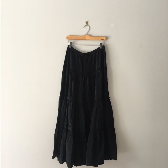 Ralph Lauren Black Peasant Skirt Black peasant flowing skirt Ralph Lauren Skirts A-Line or Full
