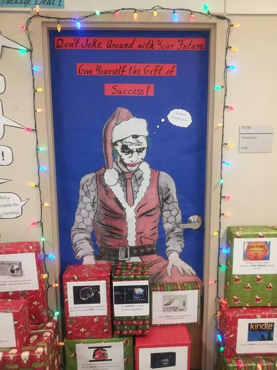 15 best Batman or Superhero Christmas Door images on