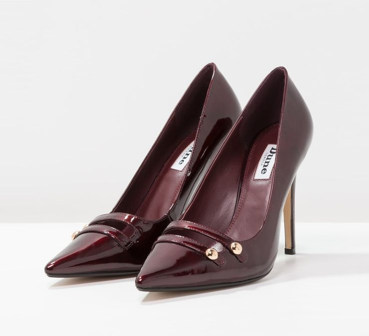 Burgundy pointed toe pumps | Dune London