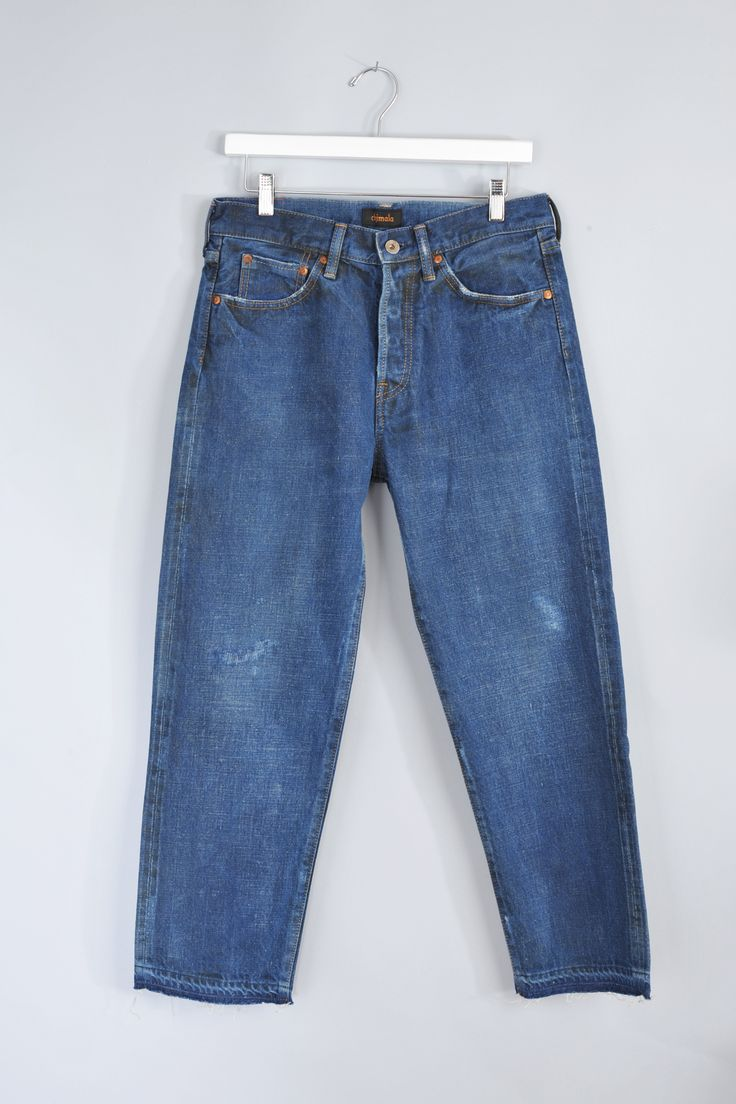 medum_repair_ankle_cut_jeans_by_chimalaFrom Japanese denim specialists Chimala, we bring you the medium repair ankle cut jeans in a medium wash.  This denim collection is made in small batches ensurin...