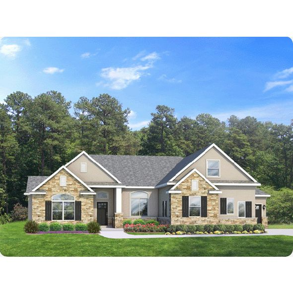 11 best ramblers images on pinterest rambler house plans for Rambler house plans with 3 car garage