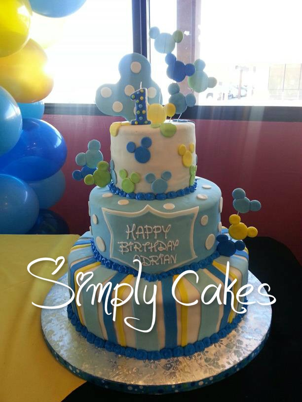 Cake By Design Doral : Baby Mickey Cake My Cakes Pinterest Mickey cakes ...