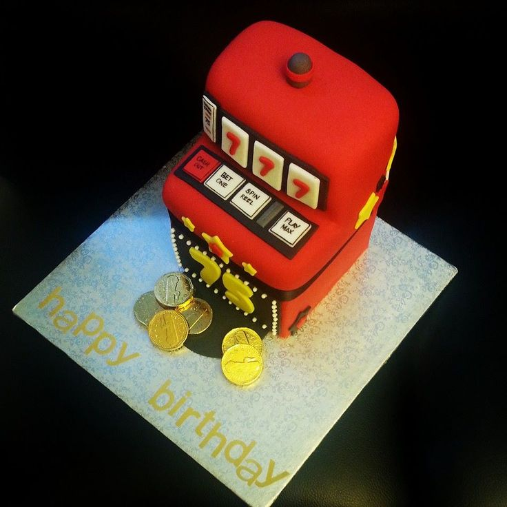3D custom slot machine #cake - #casino theme #lucky7 #birthday