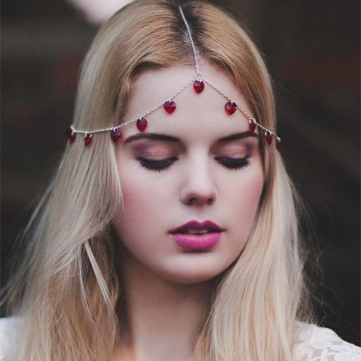 Charm Hair Jewelry Forehead Chain Headband Headpiece with Crystal Tassel