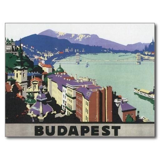 Voyage vintage Budapest Hongrie Carte Postale | Zazzle