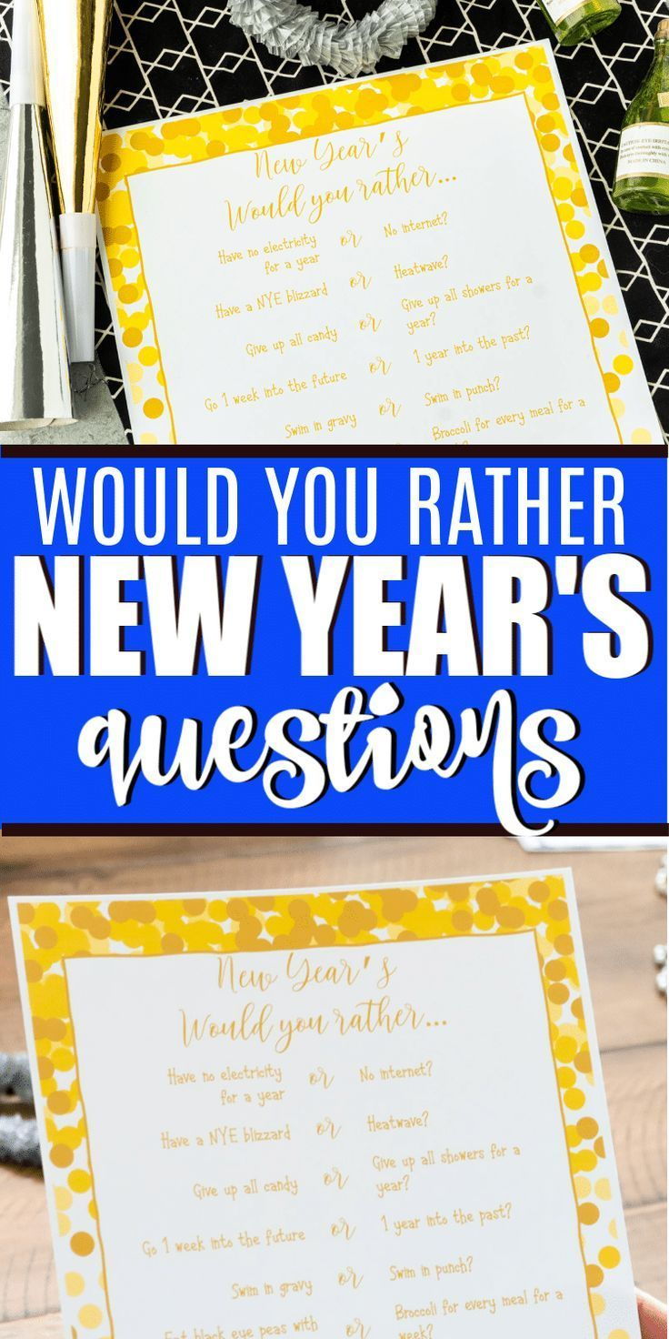 Free Printable Would You Rather Game Play Party Plan