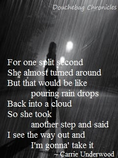Like pouring raindrops into a cloud