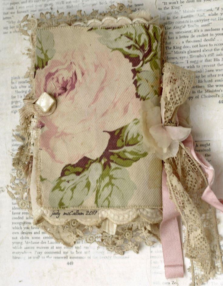 MIXED MEDIA FABRIC COLLAGE BOOK OF DIVINE LITTLE GIRLS AND ROSES | Art, Mixed Media Art & Collage Art | eBay!