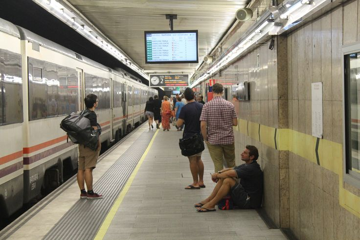 Станция железной дороги в Барселоне