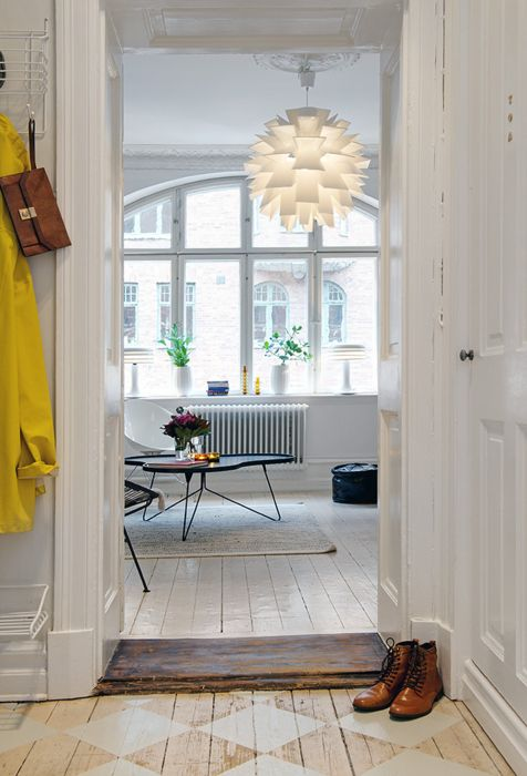 checkerboardPendants Lamps, Lights Fixtures, Light Fixtures, Interiors, Painting Wood Floors, Painting Floors, Windows, Floors Lamps, Painted Floors