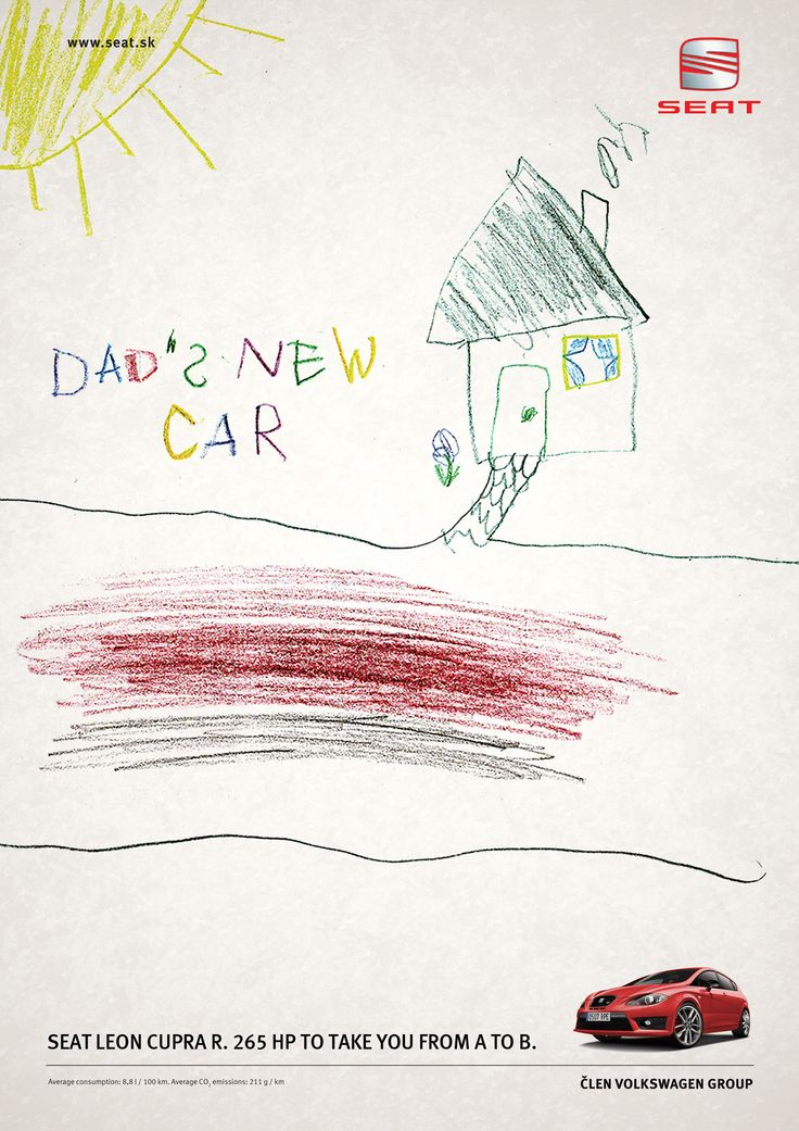 Seat - Dad's new car | #ads #marketing #creative #werbung #print #poster #advertising #campaign < found on www.creativecriminals.com pinned by www.BlickeDeeler.de | Follow us on www.facebook.com/blickedeeler