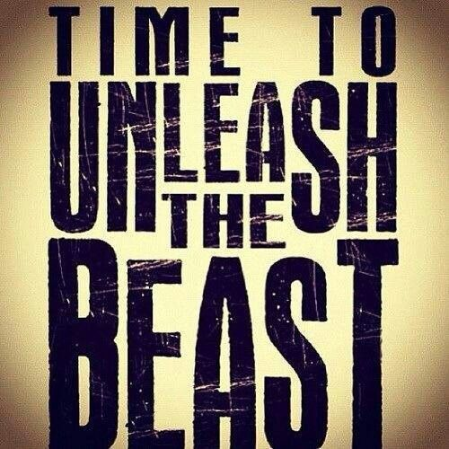 Beast Mode. i'd love to paint this on our home gym wall one day