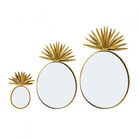 Bombay Duck Spiegel-Set Ananas 3teilig versandkostenfrei online kaufen | design3000.de Online Shop