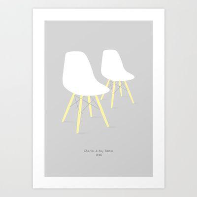 Eames x 2 #2 Art Print by bittersweat - $20.00