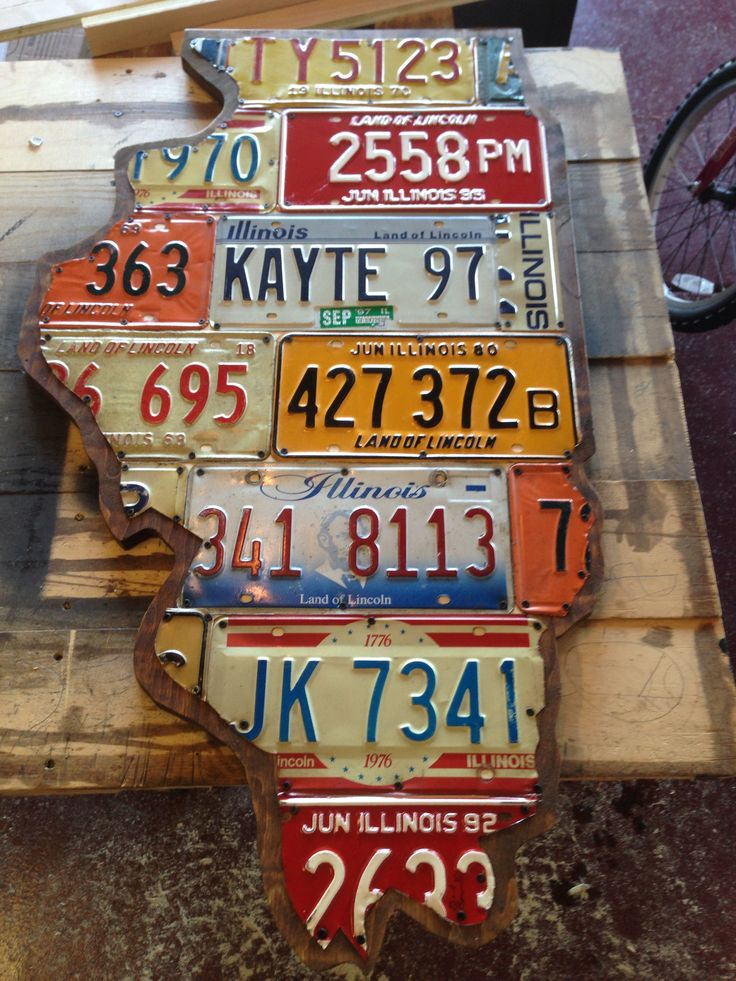 Illinois License Plate Project License Plate Decor License Plate Crafts License Plate Sign