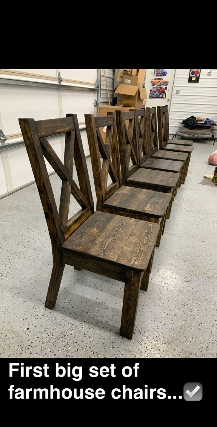 DIY Farmhouse Xback chairs! Farmhouse chairs, Farmhouse