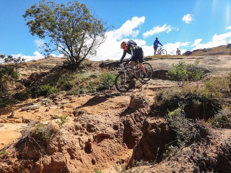 Rugged raw terrain on the Black Fountain trail