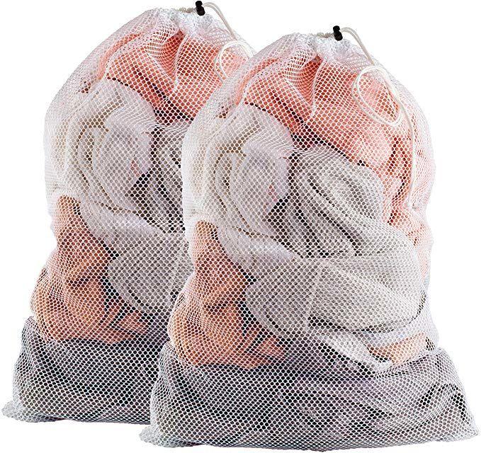 Amazon Com Commercial Mesh Laundry Bag Sturdy Mesh Material