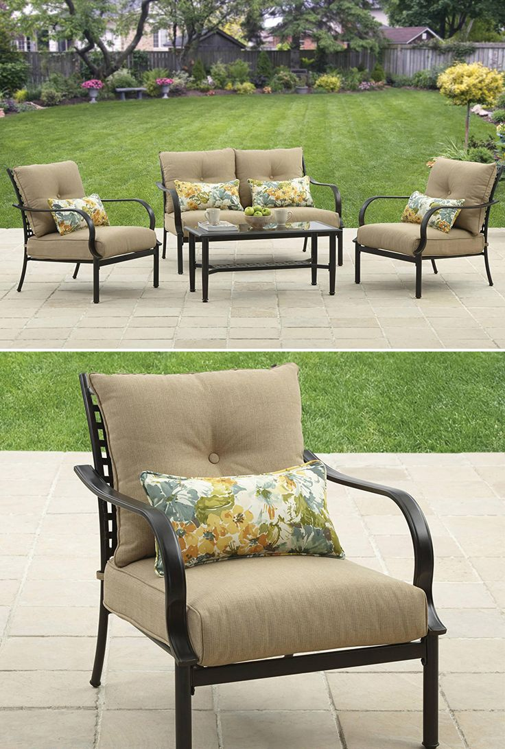Better Homes and Gardens Wellington Hills 4 Piece Conversation Set. 212 best Outdoor Living images on Pinterest