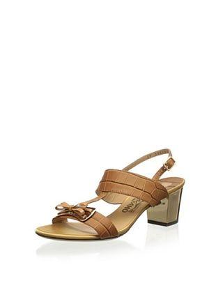 44% OFF Salvatore Ferragamo Women's Blues Heel Sandal (Brown)