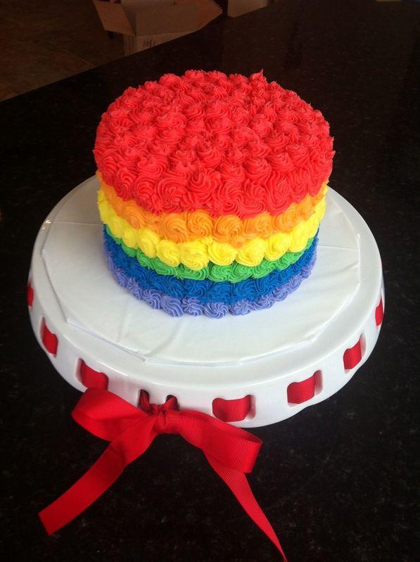 Rainbow Smash Cake