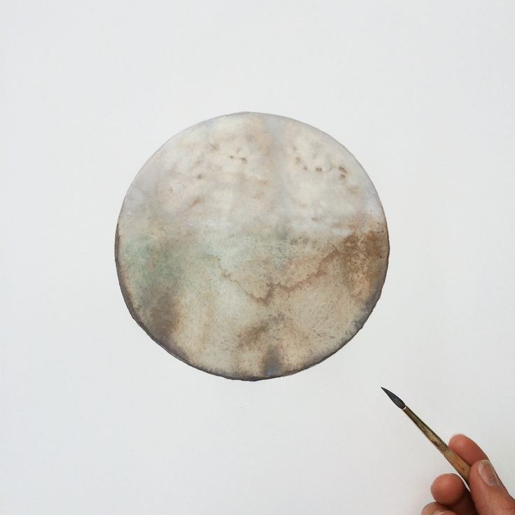 "Triton, Neptune's largest moon by Stella Maria Baer watercolor on paper  18 x 24"" www.stellamariabaer.com"