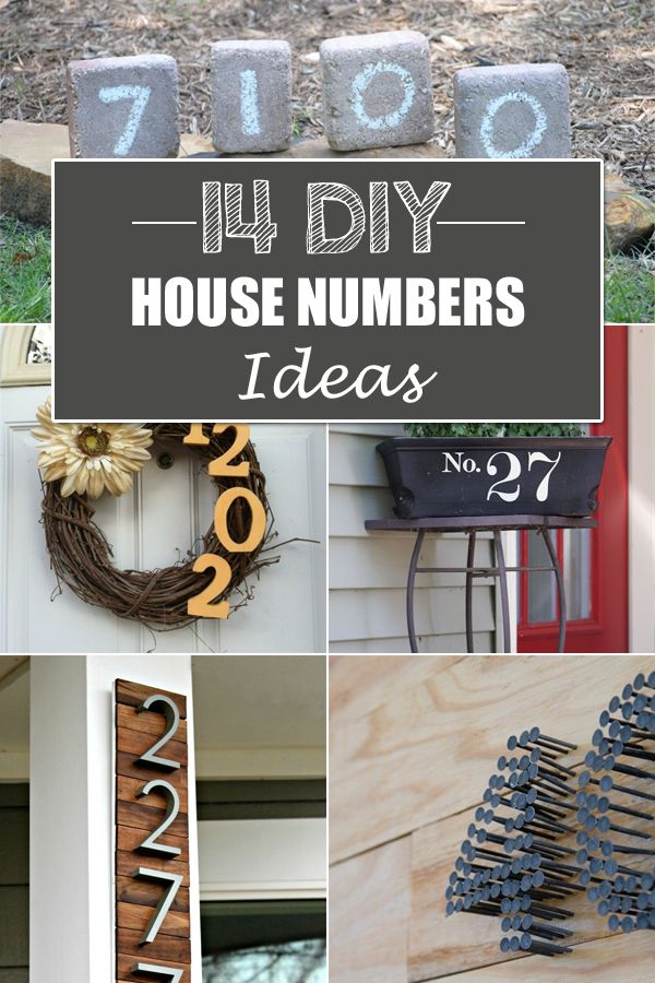 Try one of these DIY ideas for creatively displaying your house number.