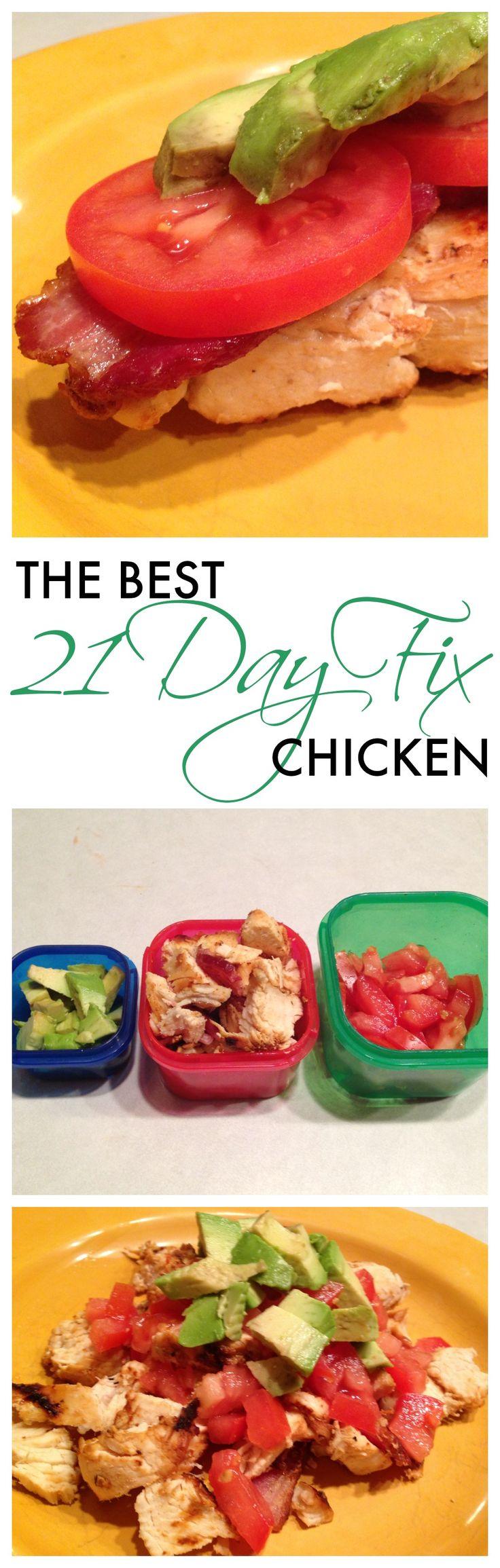 The Best 21 Day Fix Chicken, EVER: 2 ways #21dayfix #eatclean #yummy #chicken
