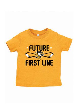Pittsburgh Penguins Gold Future First Line Short Sleeve T-Shirt