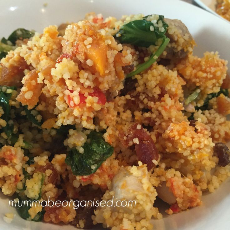 Warm Chicken, Pumpkin and Couscous Salad | Mumma Be Organised