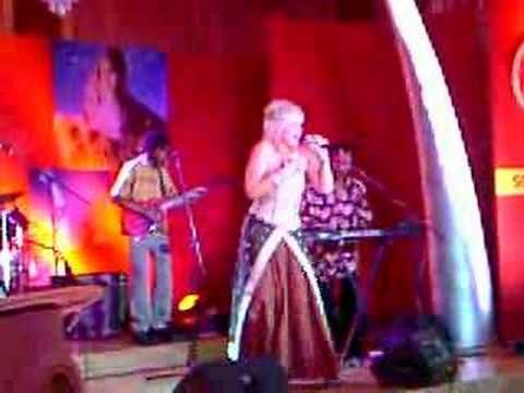 "An excerpt of PJ Powers (aka Thandeka) performing her hit ""Jabulani"" live"