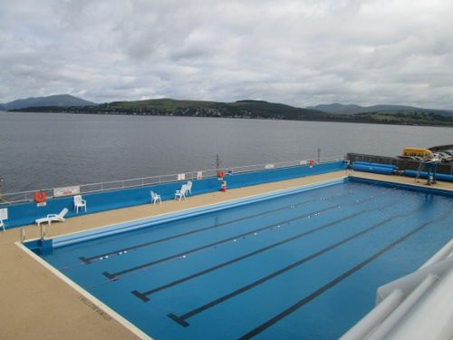 Gourock outdoor pool, west of Glasgow