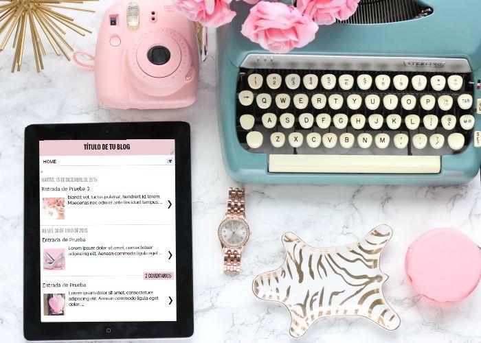 Plantilla Minimalista y Profesional para Blogger. Diseño Gráfico Personalizado para Blogueras y Emprendedoras Valientes