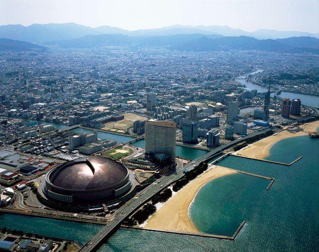 the view of Momochi sea side area, Fukuoka city
