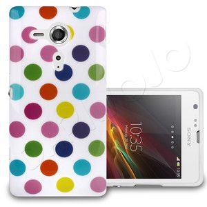 Retro Polka Dot Spotty Slim Gel Case Cover Skin Fits Sony Xperia SP Mobile Phone | eBay