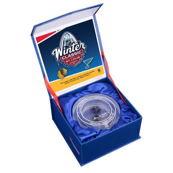 Fanatics Authentic 2017 NHL Winter Classic Chicago Blackhawks vs. St. Louis Blues Crystal Puck - Filled With Ice From The 2017 Winter Classic - $49.99