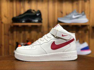 e4acae2790f8e6 Mens Womens Nike Air Force 1 Mid White Sail University Red 314195-126  Running Shoes
