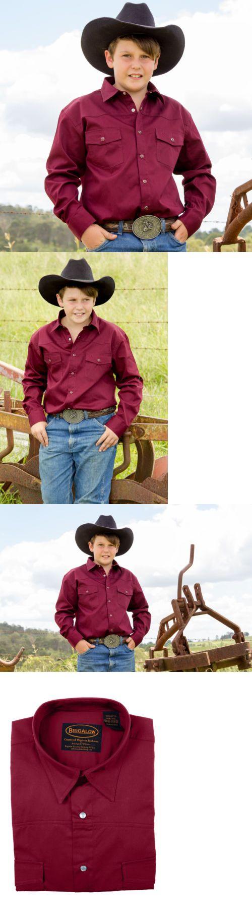 Western Show Shirts 183376: New Boys 100% Cotton Maroon Dress Shirt - 8056S Boys Shirtbrigalow -> BUY IT NOW ONLY: $69.95 on eBay!
