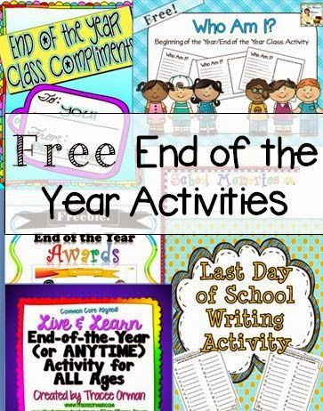 Great list of FREE end of the year activities!